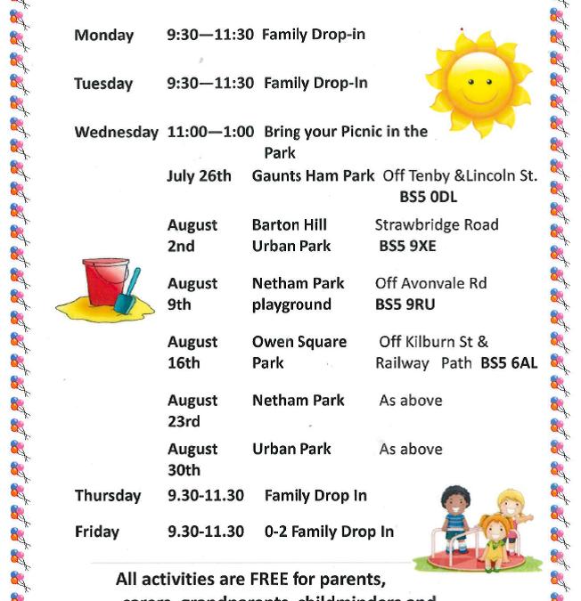 Barton Hill Family Centre & Children's Centre summer activity programme