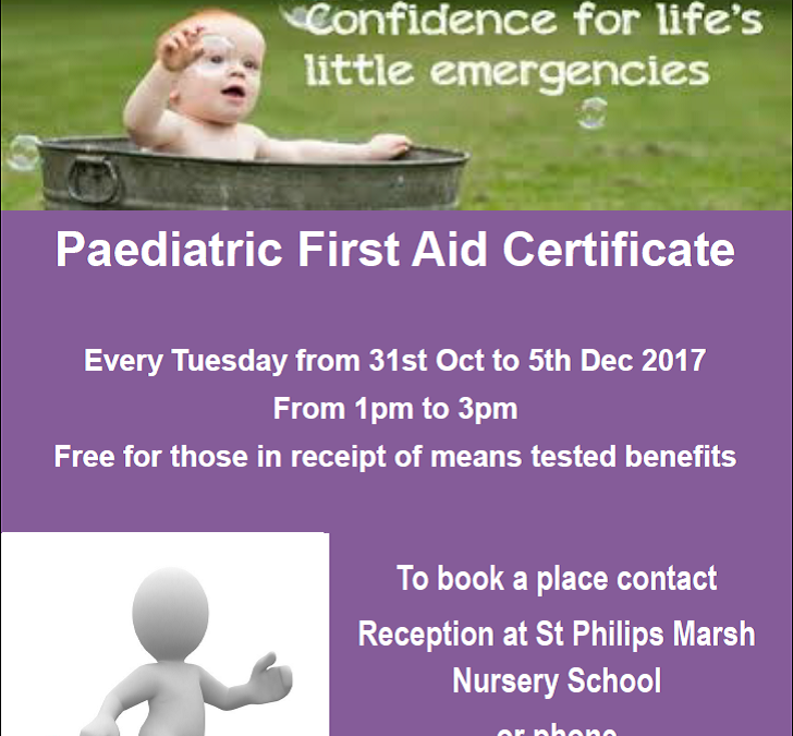 Free Paediatric First Aid Course