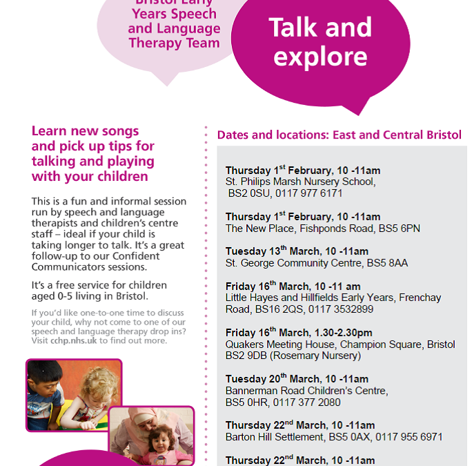 Speech & Language Talk and Explore