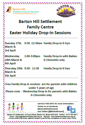 Barton Hill Settlement Easter 2018 drop-in