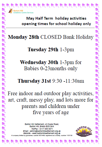 May half term holiday programme