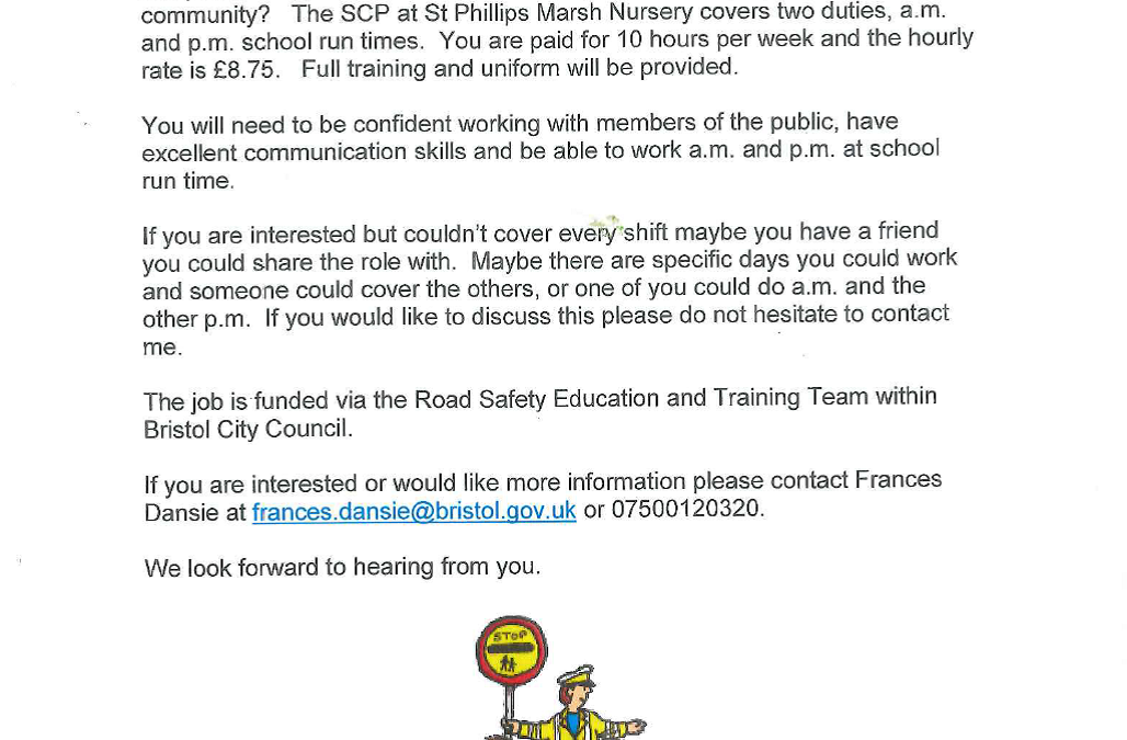 School crossing patrol vacancy