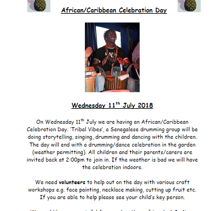 African Caribbean Celebration Day 11 July 2018
