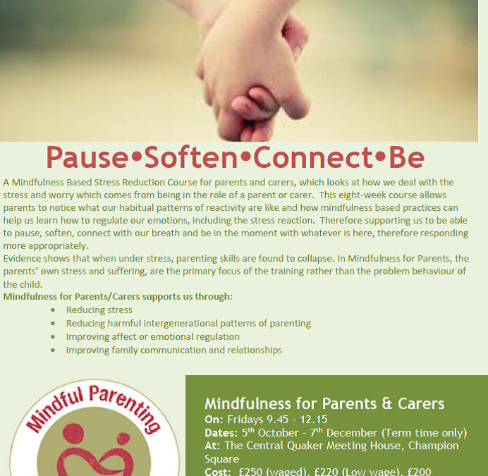 Parent mindfulness course
