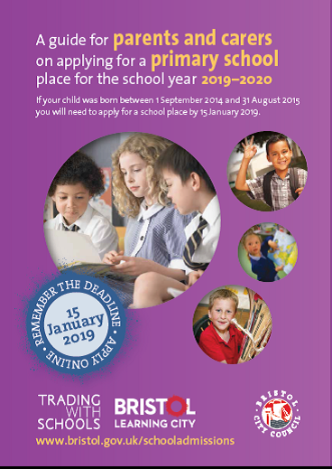 It is time to apply for a primary school place for school years 2019-2020