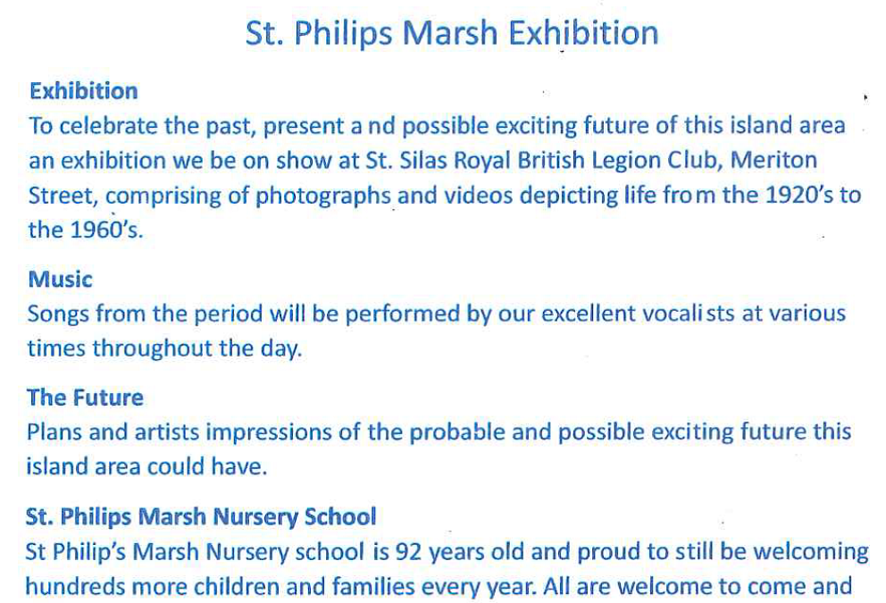 St Philip's Marsh open day
