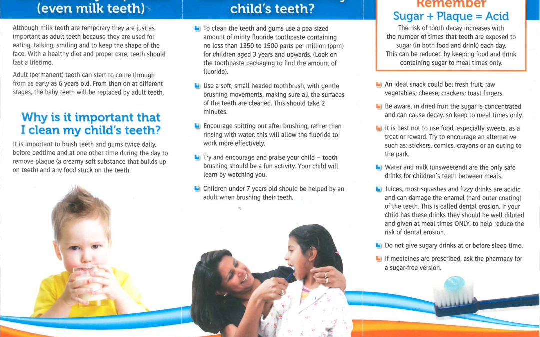 A guide to healthy teeth for your young child