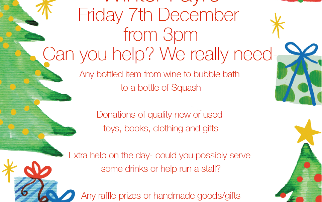 Winter Fayre – can you help?