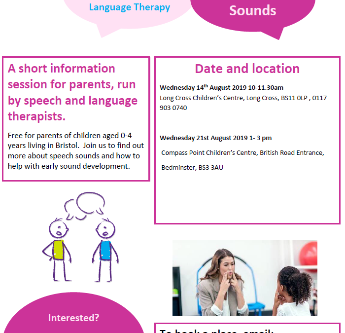 Summer speech and language sessions
