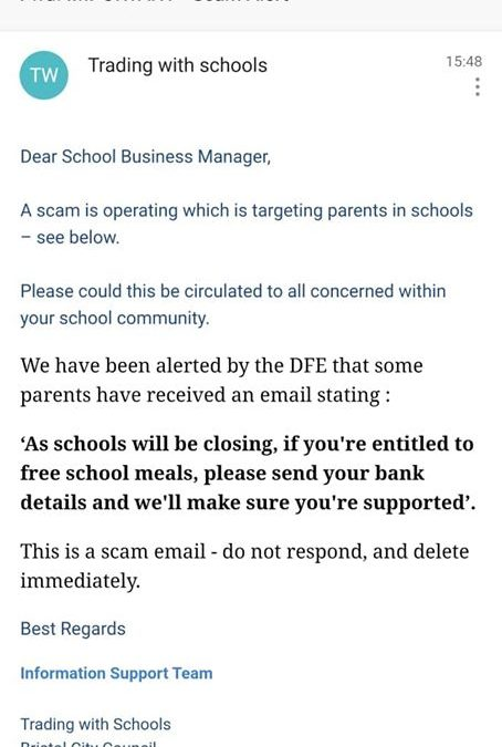Beware of scam email