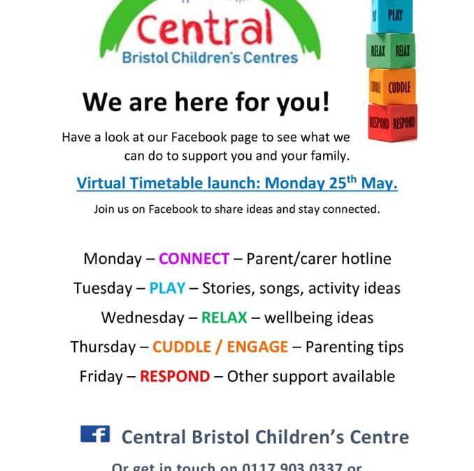 Central Bristol Children's Centres launch virtual timetable