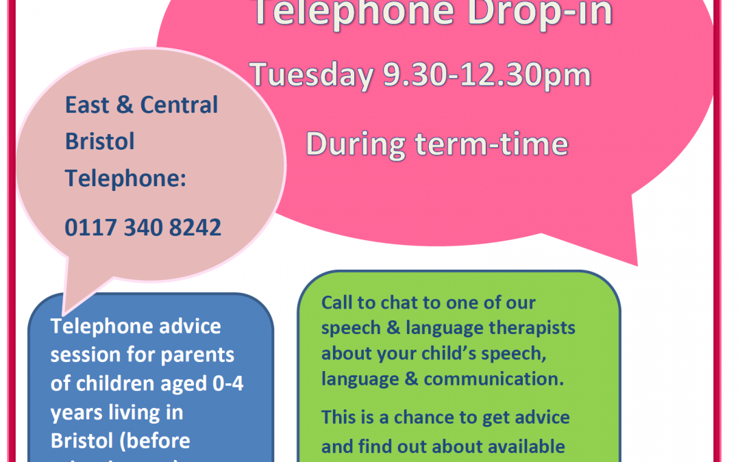 Speech and Language Therapists telephone drop-in for parents
