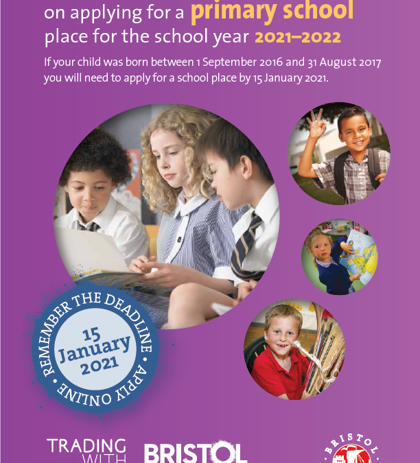Apply now for a primary school place for your child to start in September 2021