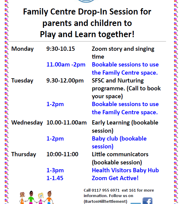 Wellspring Settlement Family Centre drop-in sessions