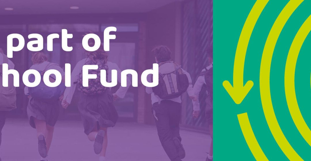 School joins the My School Fund initiative to help boost our budget