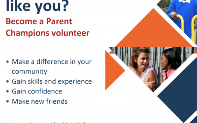 Exciting opportunity to become parent champion