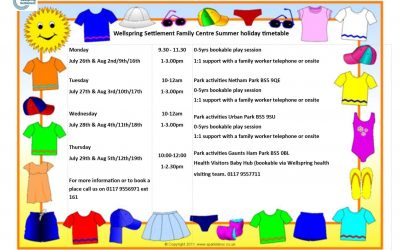 Family Centre Summer holiday activities