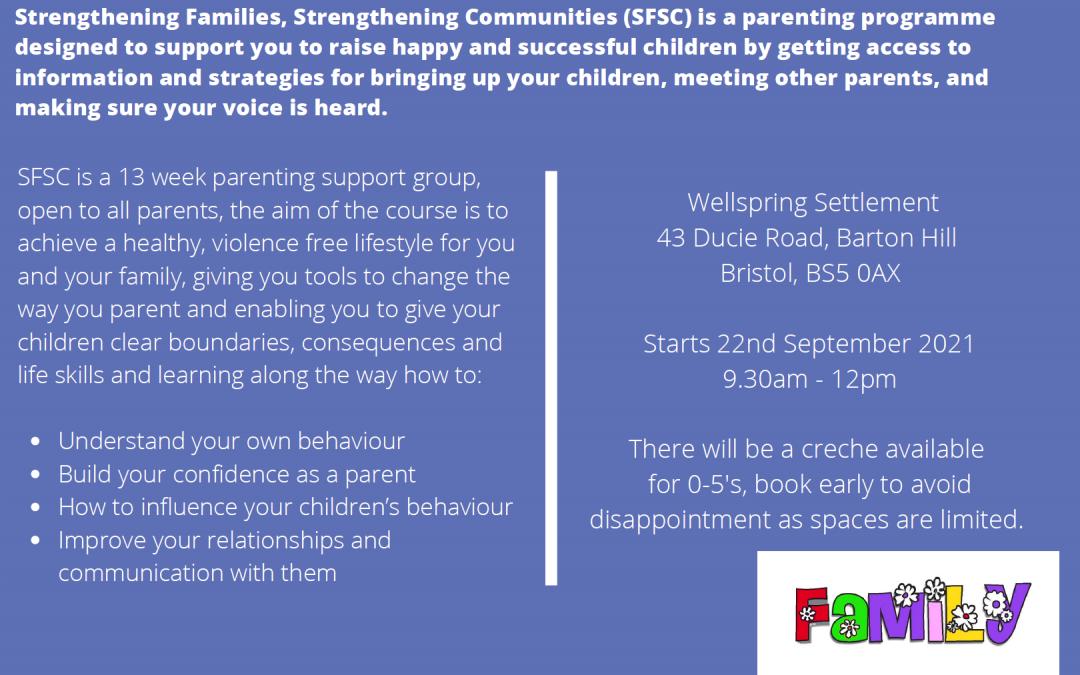 Strenthening Families parenting programme